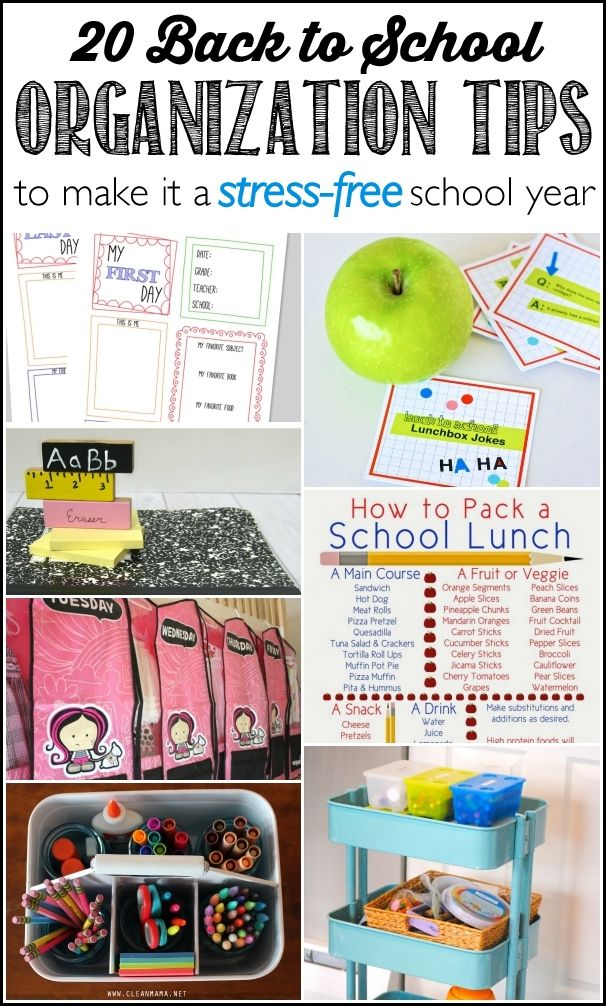 17 best images about organized for school on pinterest first day of school clean mama and - Back to school organization ...