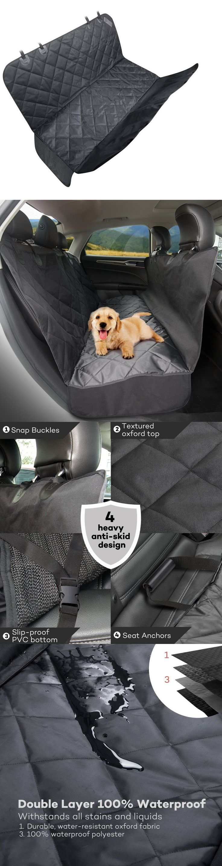 Car Seat Covers 117426: Taotronics Dog Seat Car Cover - Pet Hammock, Waterproof Rear Protector, Back Mat -> BUY IT NOW ONLY: $33.83 on eBay!