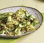 Shaved Summer Squash with Almond Salsa Verde