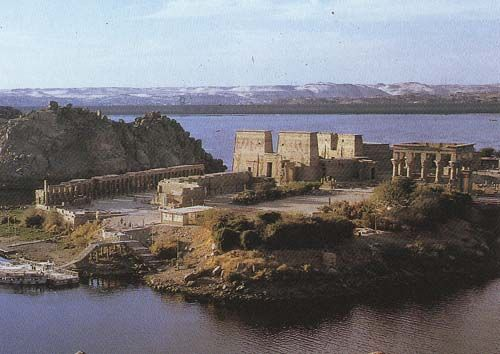 Temple of the Goddess Isis at Philae, Egypt