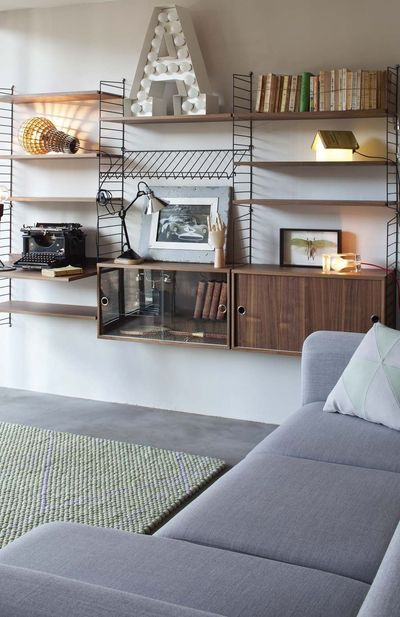 Beautifully Styled String Shelving Walnut & Black | Storage Solutions | Home Inspiration | Click to BUY NOW design55online.co.uk or Pin for later!