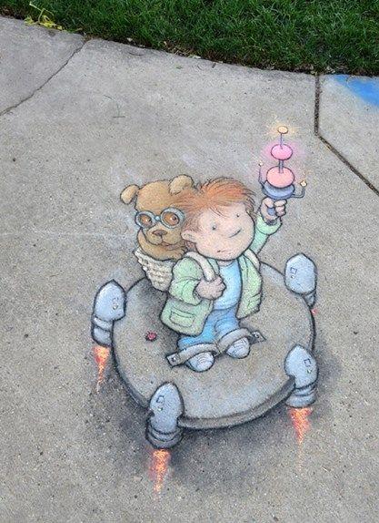 Chalk Art by David Zinn                                                                                                                                                                                 More