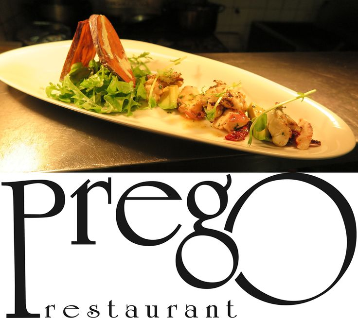 Prego Restaurant in Floreat - new entry #Italian #Wine & #Food #Week  Special for the Festival: #Grilled #Morten #Bay #Bugs Grilled Morten Bay Bugs served with marinated octopus on a bed of Roquette salad with avocado and crispy eggplant, dressed with lemon, olive oil salsa and aioli tahini
