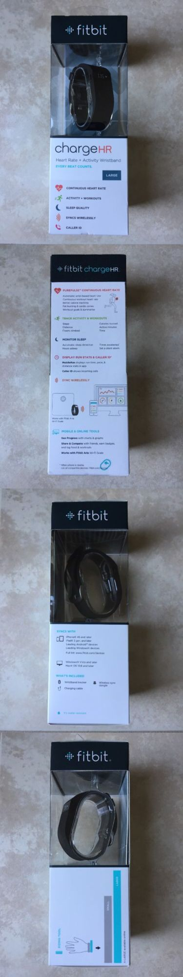 Activity Trackers 179798: *New* Fitbit Charge Hr Heart Rate Activity Sleep Wristband Monitor Large Black -> BUY IT NOW ONLY: $72.88 on eBay!