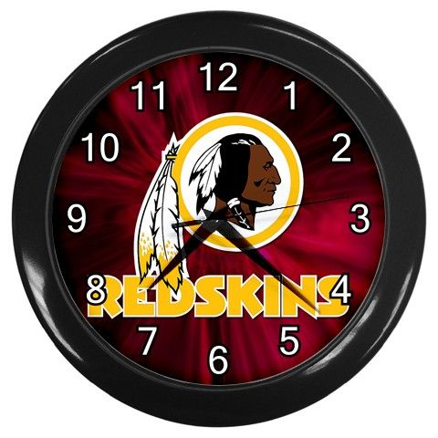 "Washington Redskins NFL Team [10"" Wall Clock Black Frame]"