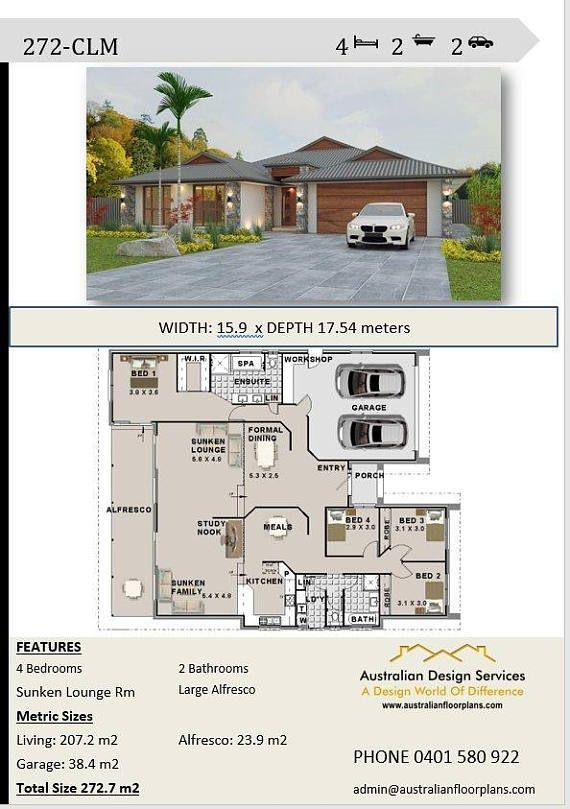 Modern House Oz74 Narrow House Plans Affordable House Plans New House Plans