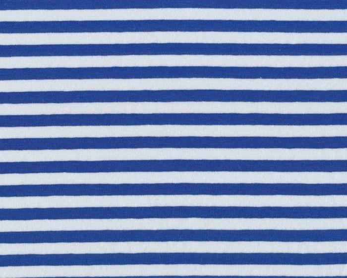 Baumwoll-Jersey CAMIE, Streifen, extrabreit, blau-weiß