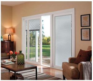 This White Sliding #Pella Patio Door Comes With #Rolscreen Retractable  Screens In Both Glass