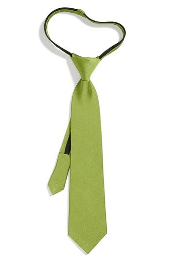 Nordstrom Silk Zipper Tie (Little Boys) available at #Nordstrom