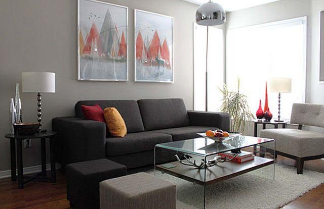 Dark Grey Sofa Living Room Ideas Ruang Tamu Ikea Desain Kamar