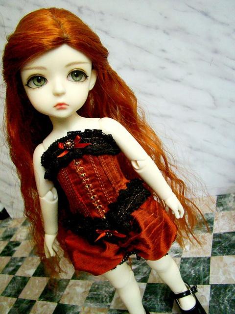 Красный корсет
