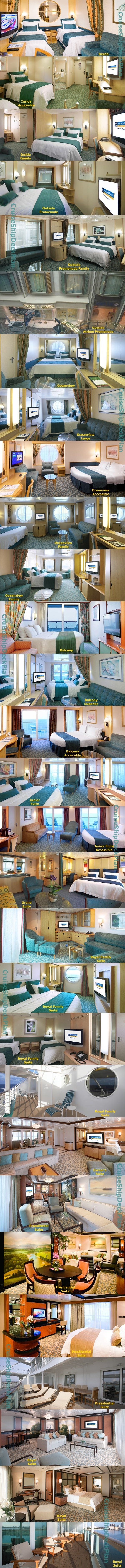 Royal Caribbean Freedom of the Seas cabins and suites photos