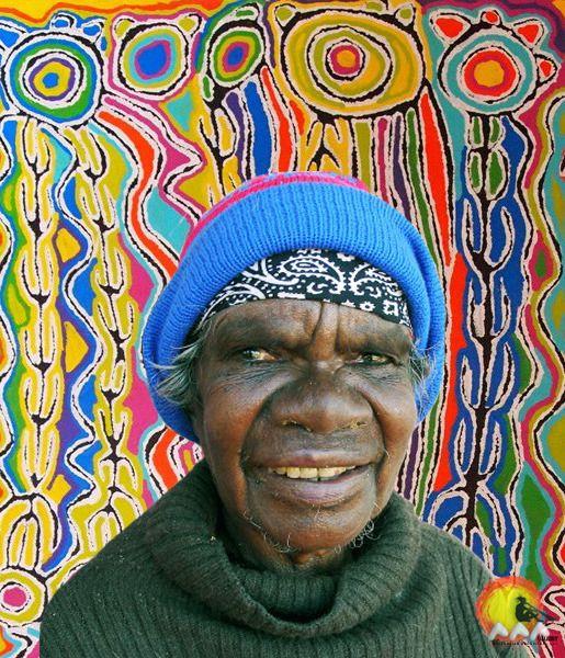 Artist: Judy Watson Napangardi | Skin Name: Napangardi | Born: c.1935 | Region…