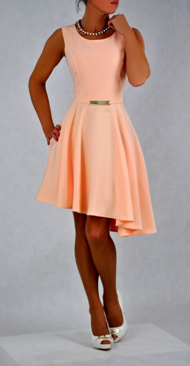 Zomer jurk met asymmetrische rok