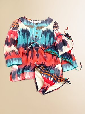 """milly minis girls tunic & swim suit. again, """"crazy expensive"""" BUT WHATEVS"""