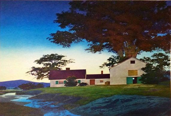 Check out this item in my Etsy shop https://www.etsy.com/listing/507057659/maxfield-parrish-twilight-1955-original