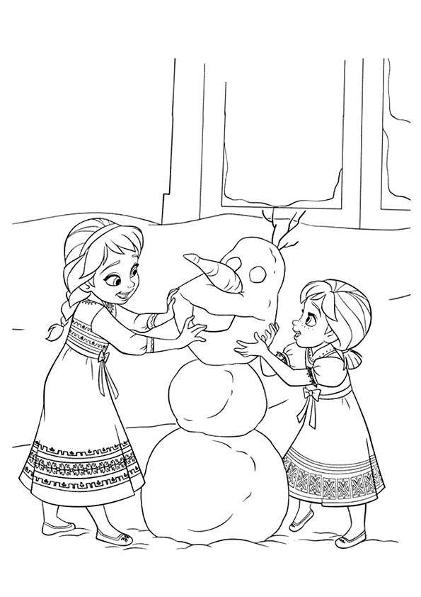 Elsa Anna Princesses Coloring Page Elsa Coloring Pages Frozen Coloring Frozen Coloring Pages
