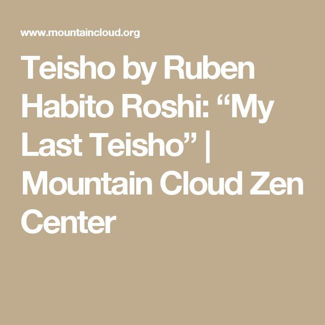 "Teisho by Ruben Habito Roshi: ""My Last Teisho"" | Mountain Cloud Zen Center"