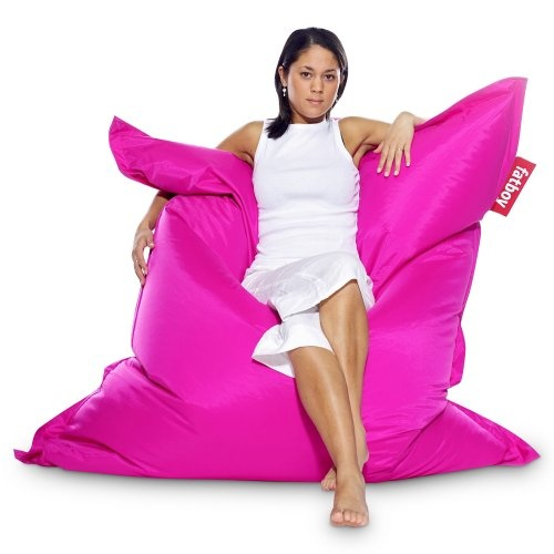 That's one huge pink bean bag.  An expected accent piece?