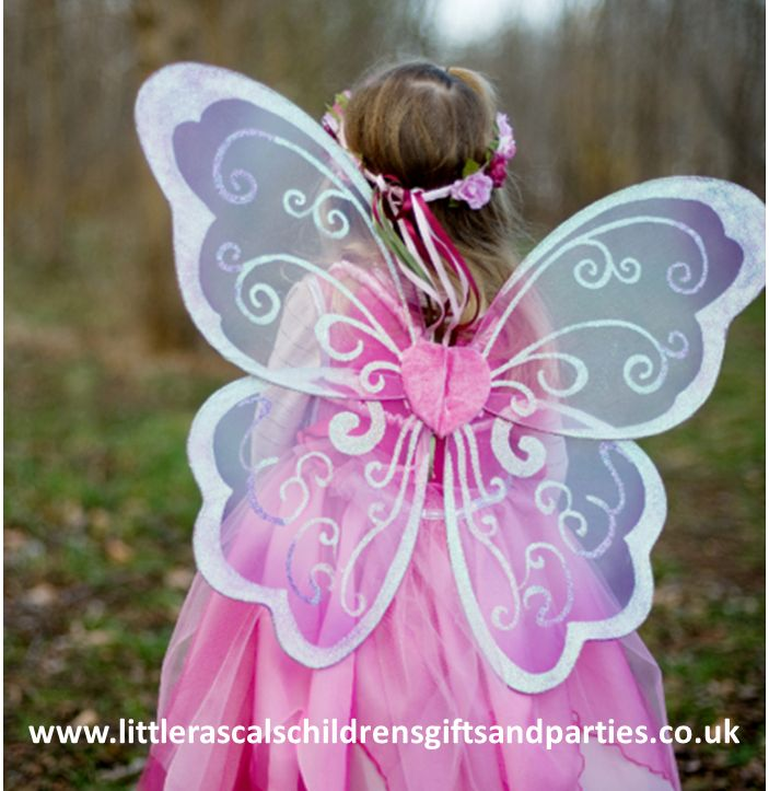 Every budding little fairy needs a pair of beautiful...how else will they fly!  £12.00 http://www.littlerascalschildrensgiftsandparties.co.uk/#!fairy-fancy-dress-costumes/c1c1s