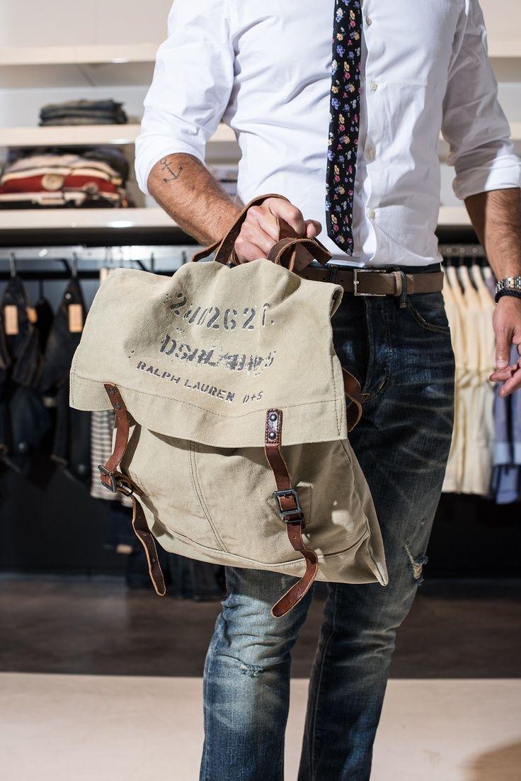 Ralph Lauren Canvas Bag   Men's Fashion