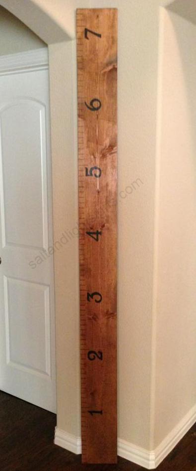 saltandlightsigns.com  Childrens Baby Boy Room Wooden Ruler Sign