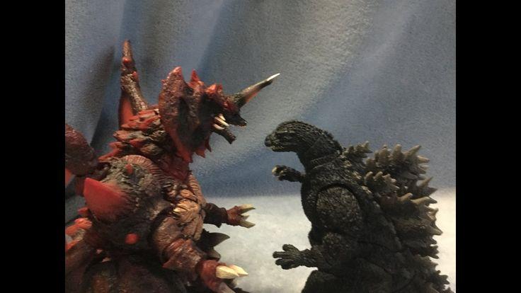 Godzilla (1995 Birth Version) vs Destroyah (Stop Motion) - YouTube