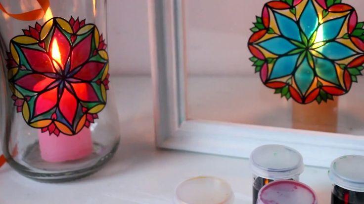 DIY - Cómo hacer candeleros con vinilos y goma laca casera  - Tutorial -...