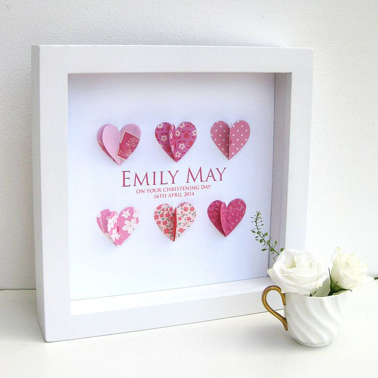 The 25 best personalised christening gifts ideas on pinterest personalised christening paper hearts art negle Image collections