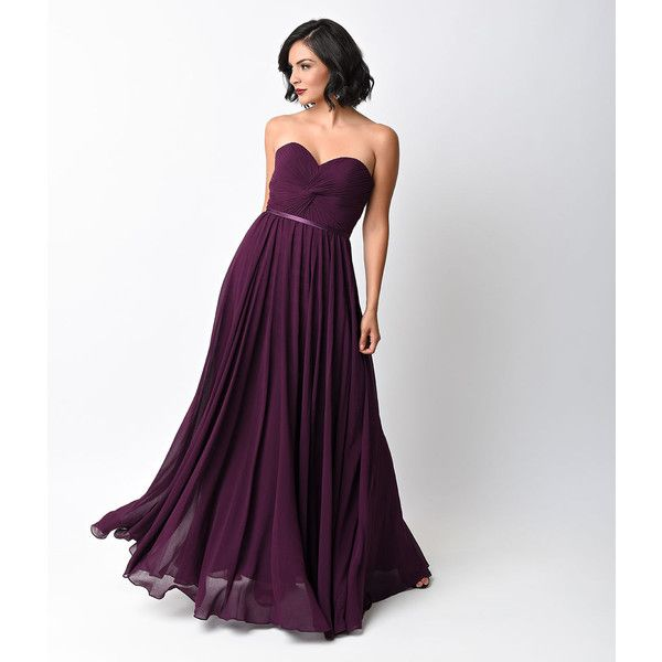 The 25  best Long purple dress ideas on Pinterest | Purple grad ...
