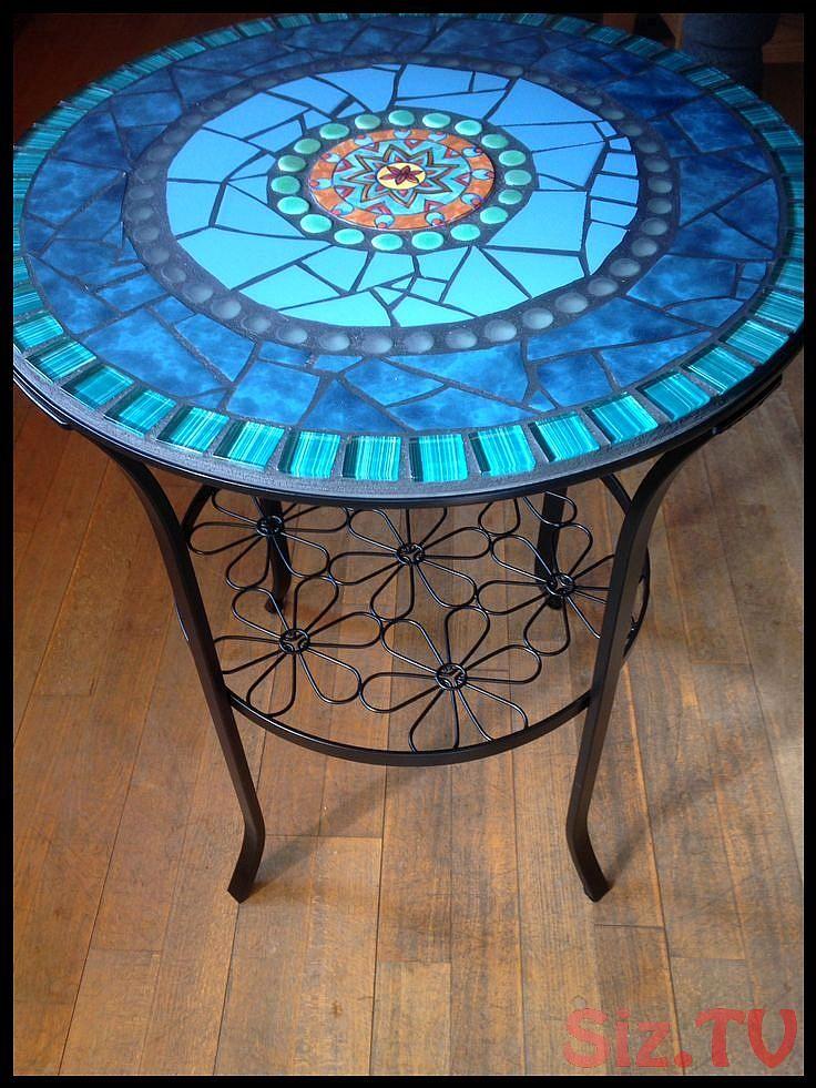Beistelltische Mosaik Tisch Garten Beistelltisch Bistrotisch Ein
