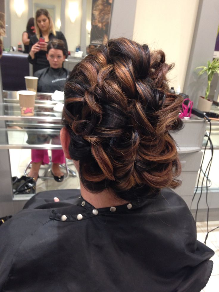 Up do for Indian wedding