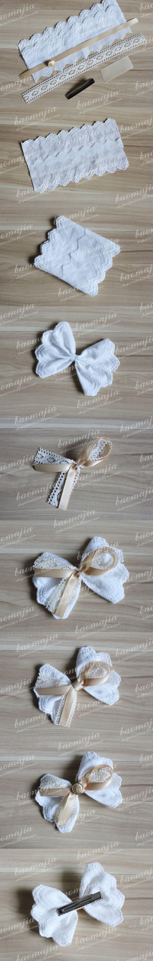 bordado inglês laço