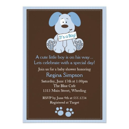 Blue Brown Baby Shower Theme | ... with any puppy dog theme for a boy baby shower its baby blue and deep