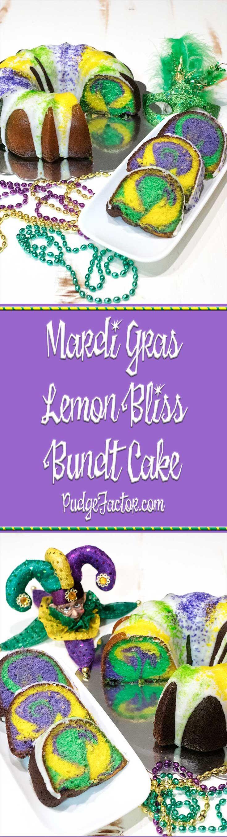 Brighten your Mardi Gras season with this rich and moist Lemon Bliss Bundt Cake. It tastes amazing under a layer of lemon glaze. via @c2king