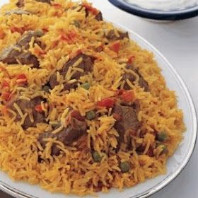LEBANESE RECIPES: Lamb Tomato and Green Peas Rice