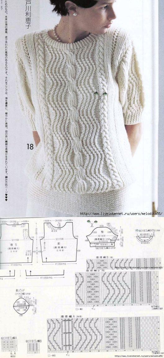 Летний джемперочек | вязание | Постила
