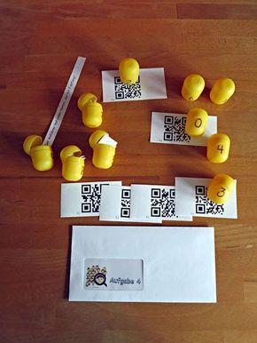 Kindergeburtstags-Spiele: Detektivgeburtstag - Aufgabe 4: QR-Codes