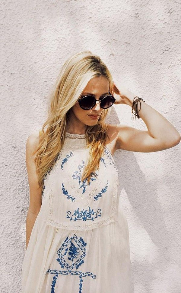 embroidered sundress