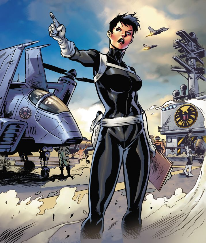 Maria Hill. Learn about her: http://marvel.com/universe/Hill,_Maria