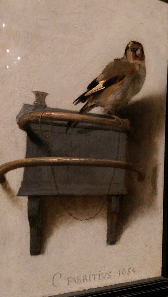 Na het lezen van 'Het Puttertje' van Donna Tartt wilde ik dit schilderij heel graag in het echt bewonderen in het Mauritshuis in Den Haag.