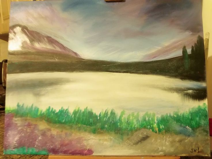 lake side painting