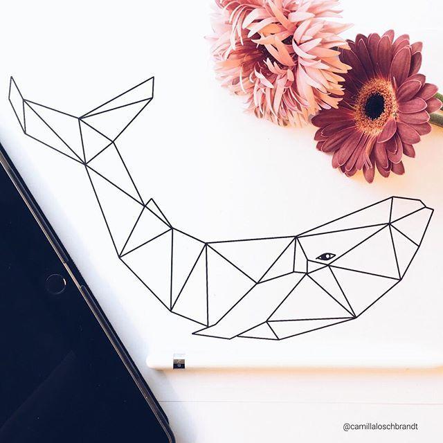 #Geometric #whale - made on an #iPad pro and the #procreate app