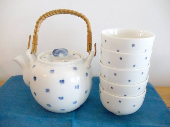 Asian Tea Set by GertrudesVintage on Etsy