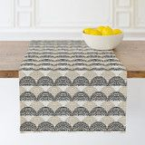 """""""Classy Tiled"""" - Abstract, Traditional Table Runners in Wheat by Loren Susvilla."""