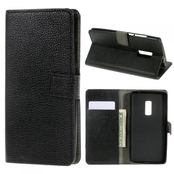 Svart mobilplånbok till OnePlus 2. Köp snygga fodral idag via länken: http://www.phonelife.se/mobilfodral
