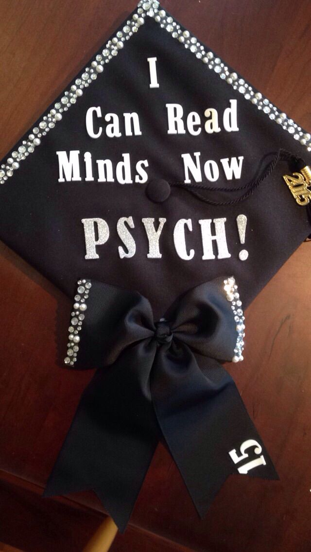 Decorated Graduation Cap. Psychology, Human Services