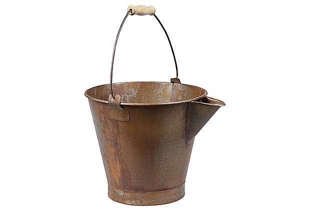 Creative Co-Op Metal Bucket with Spout