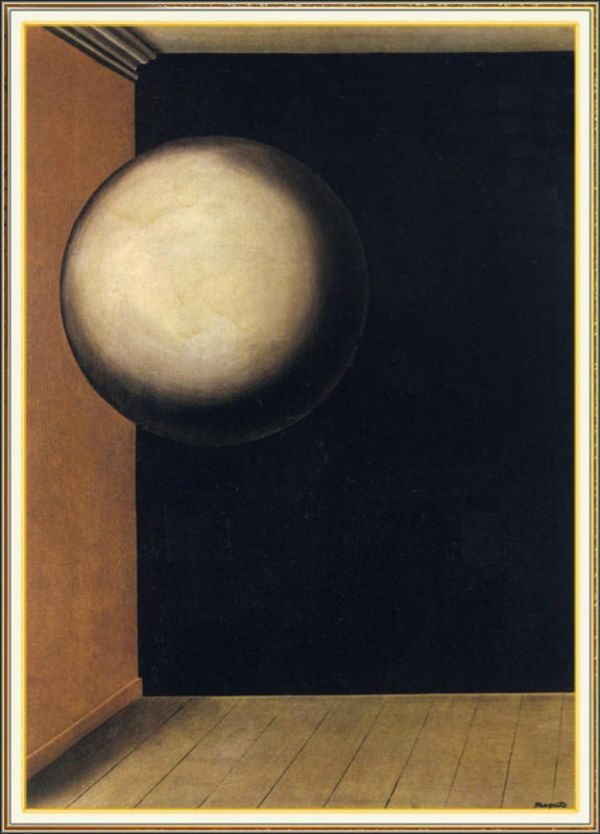 Reproduction de Magritte, Vie secrète IV. Tableau peint à la main dans nos ateliers. Peinture à l'huile sur toile.