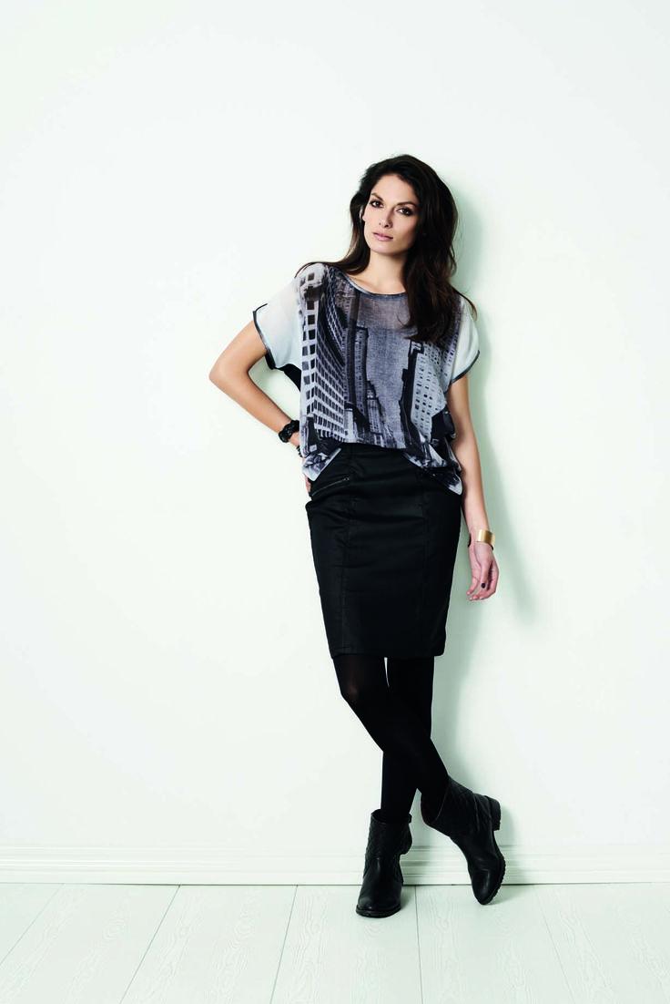 soyaconcept - blouse - T-shirt - skirt - print